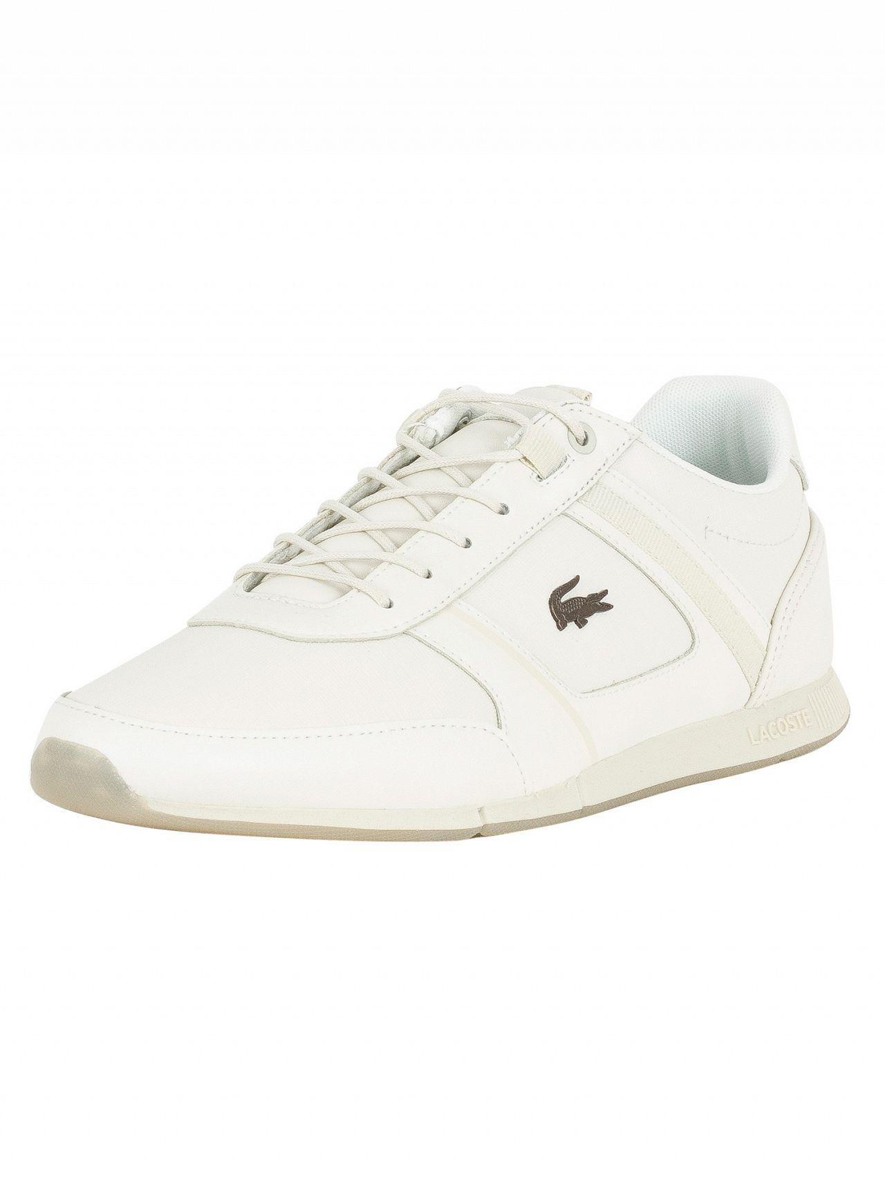 e9113cc8641783 Lyst - Lacoste Off White Menerva 318 2 Cam Trainers in White for Men
