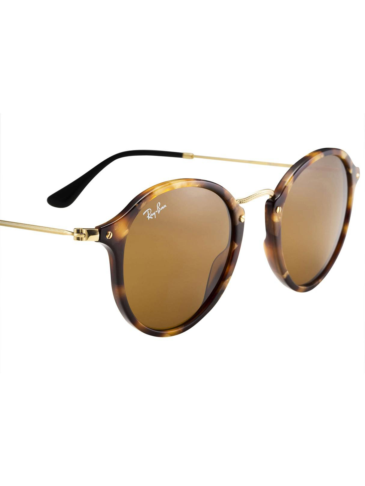 b1d87406e9 Lyst - Ray-Ban Brown Acetate Round Fleck Sunglasses in Brown for Men - Save  47%