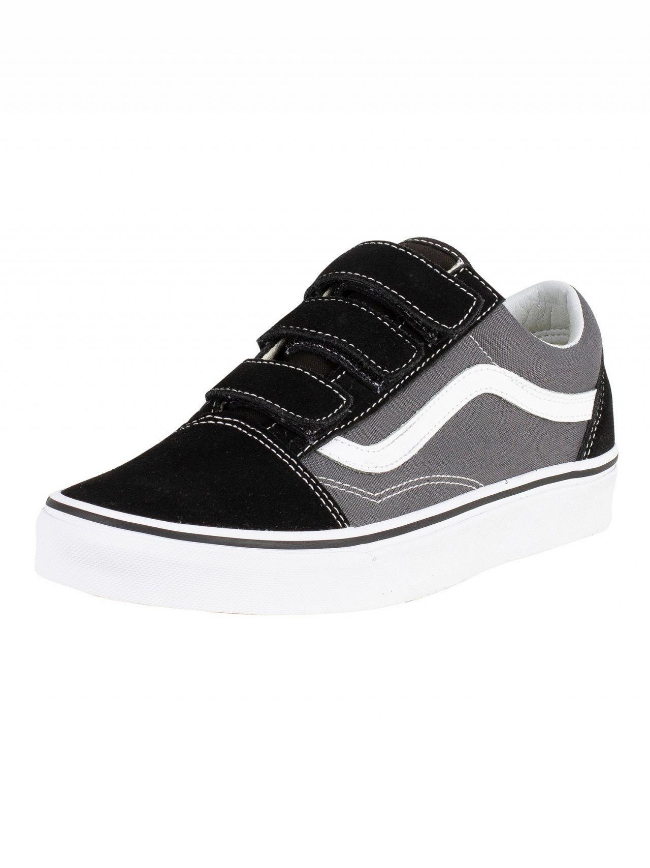 08ff16befa4 Vans Pewter black Old Skool V Trainers in Black for Men - Lyst
