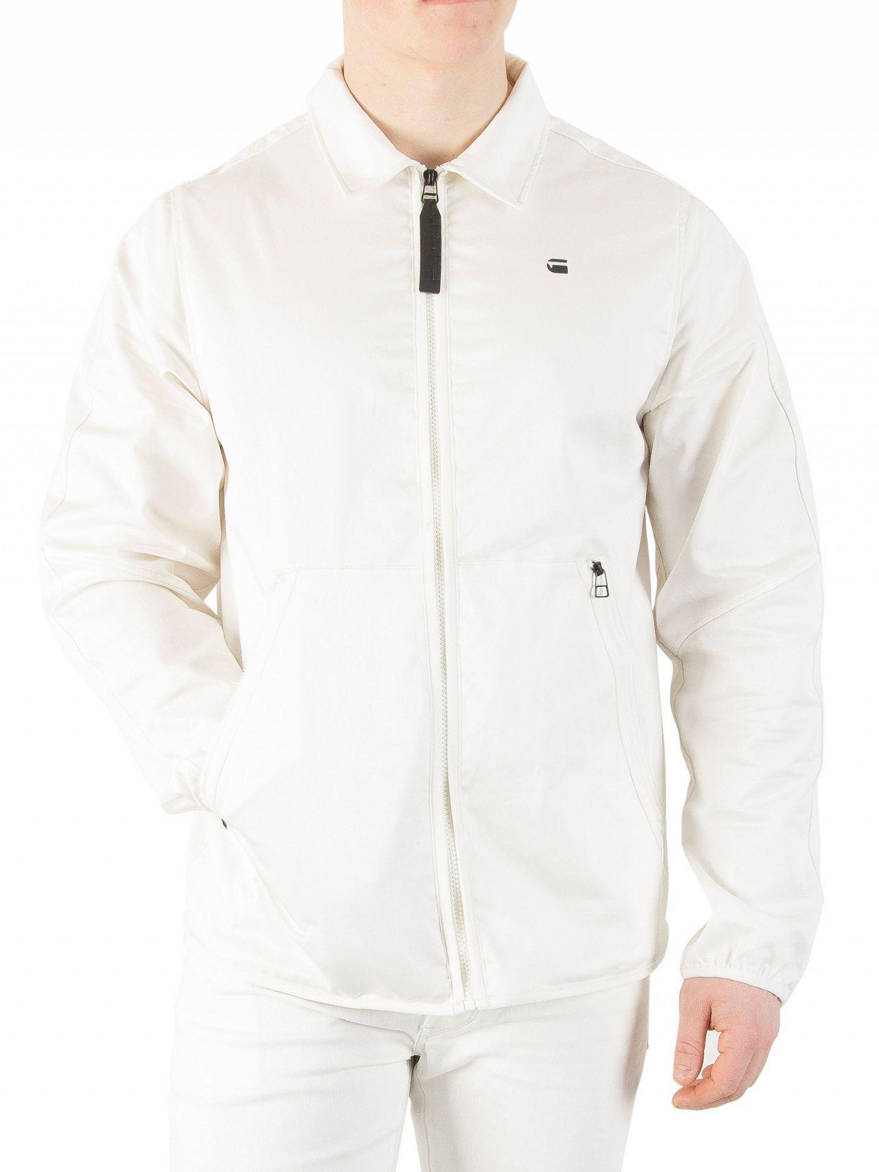 34c0a7153874 G-Star RAW Milk Strett Coach Overshirt Jacket in White for Men - Lyst
