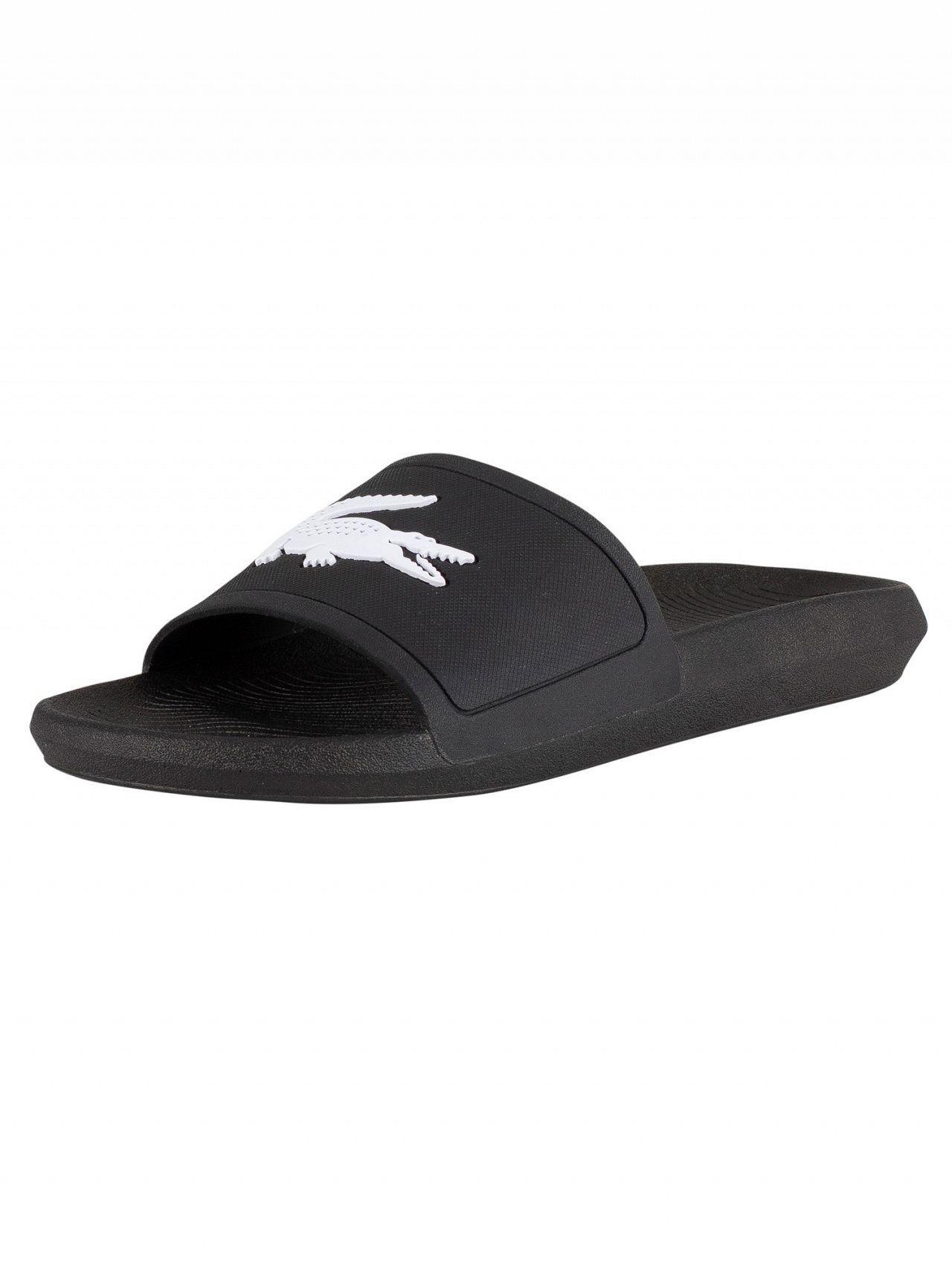 b4a68d9fea0cf Lacoste Black white Croco 119 1 Cma Sliders in Black for Men - Lyst
