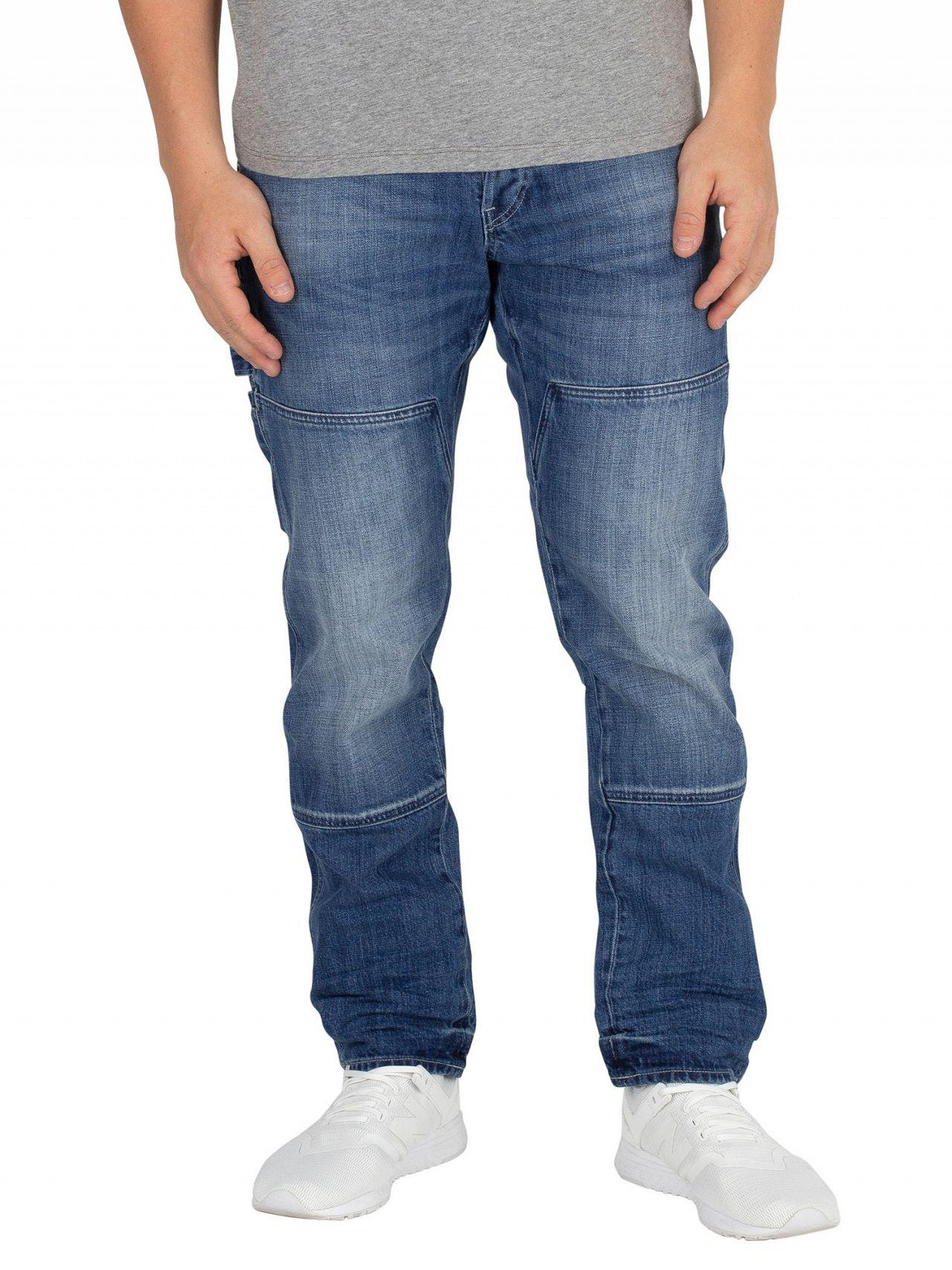 G Straight Medium Star Tapered Faeroes Jeans In Aged Classic Raw SgSPnqr