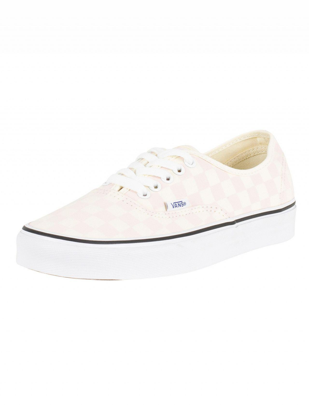 5b7dc33b28d8 Vans - White Chalk Pink Authentic Checkerboard Trainers for Men - Lyst.  View fullscreen