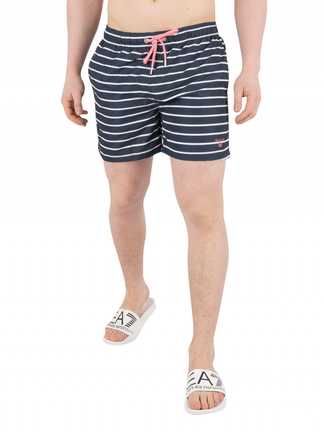 Breton Stripe Swim Shorts - Navy GANT Online Cheap Price Online Shop Free Shipping Supply Exclusive Online Clearance Explore DXLZMNyI