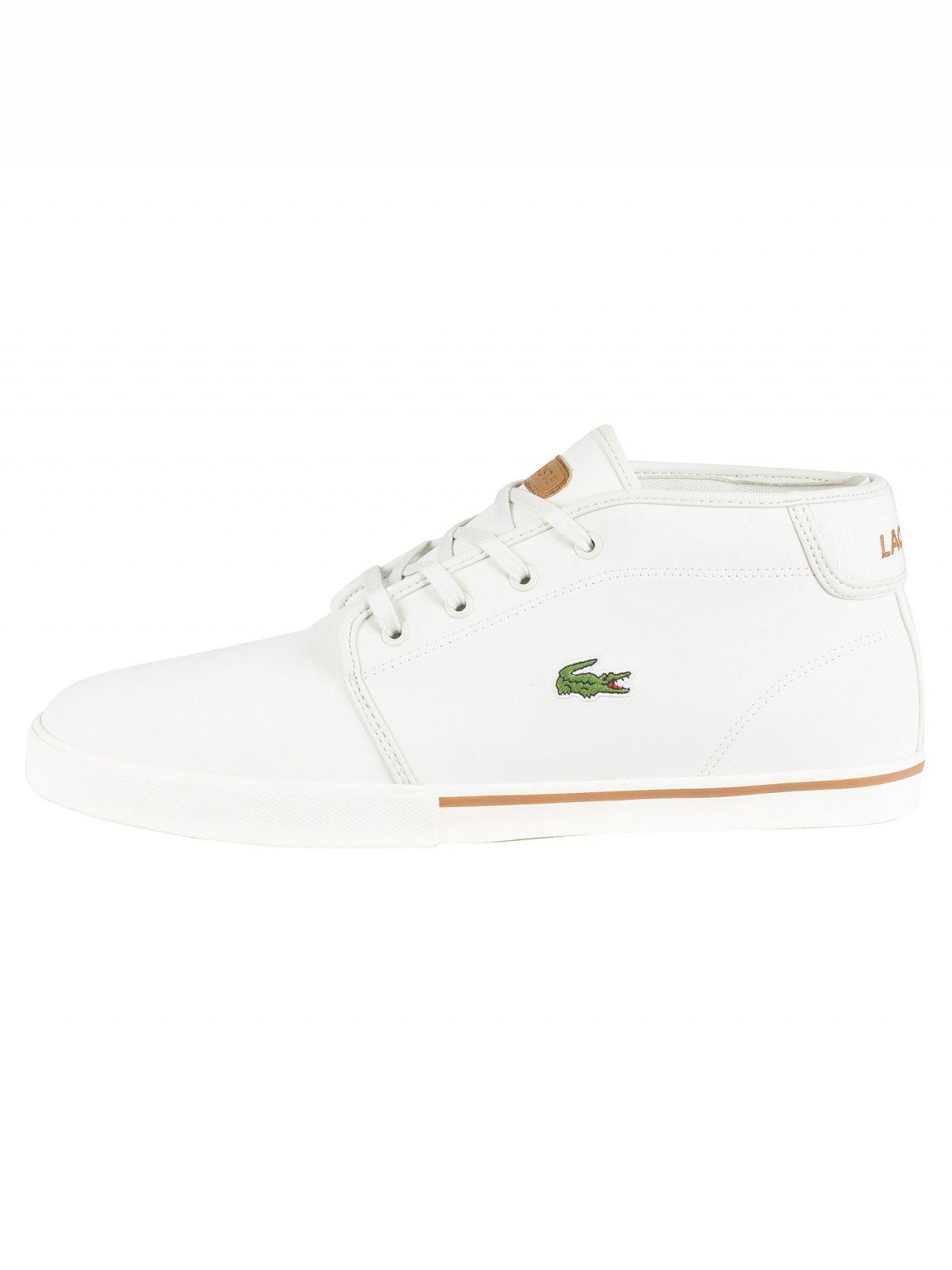 498883b6af0166 Lyst - Lacoste Off White light Brown Ampthill 119 1 Leather Trainers in  White for Men