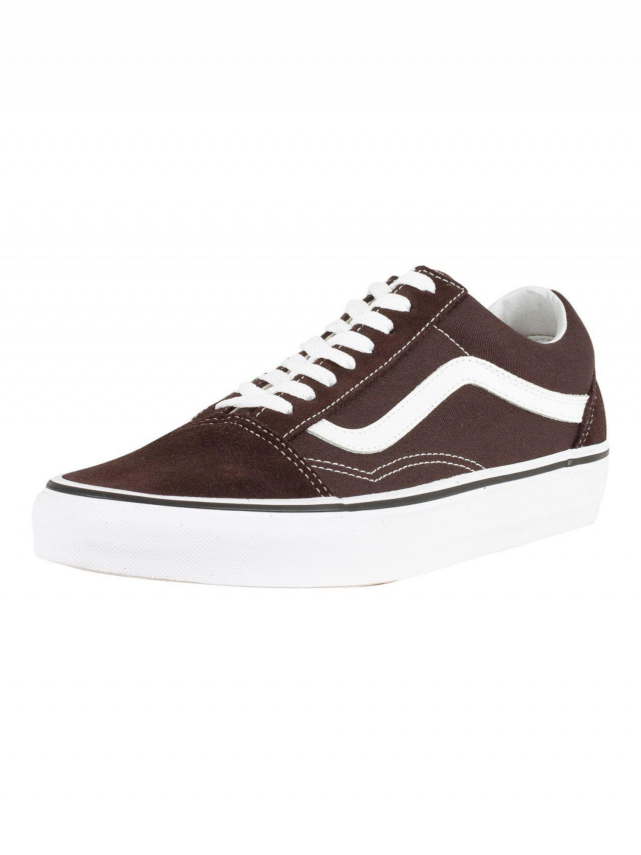 Lyst - Vans Chocolate Torte true White Old Skool Trainers in Brown ... 4bf219a4b