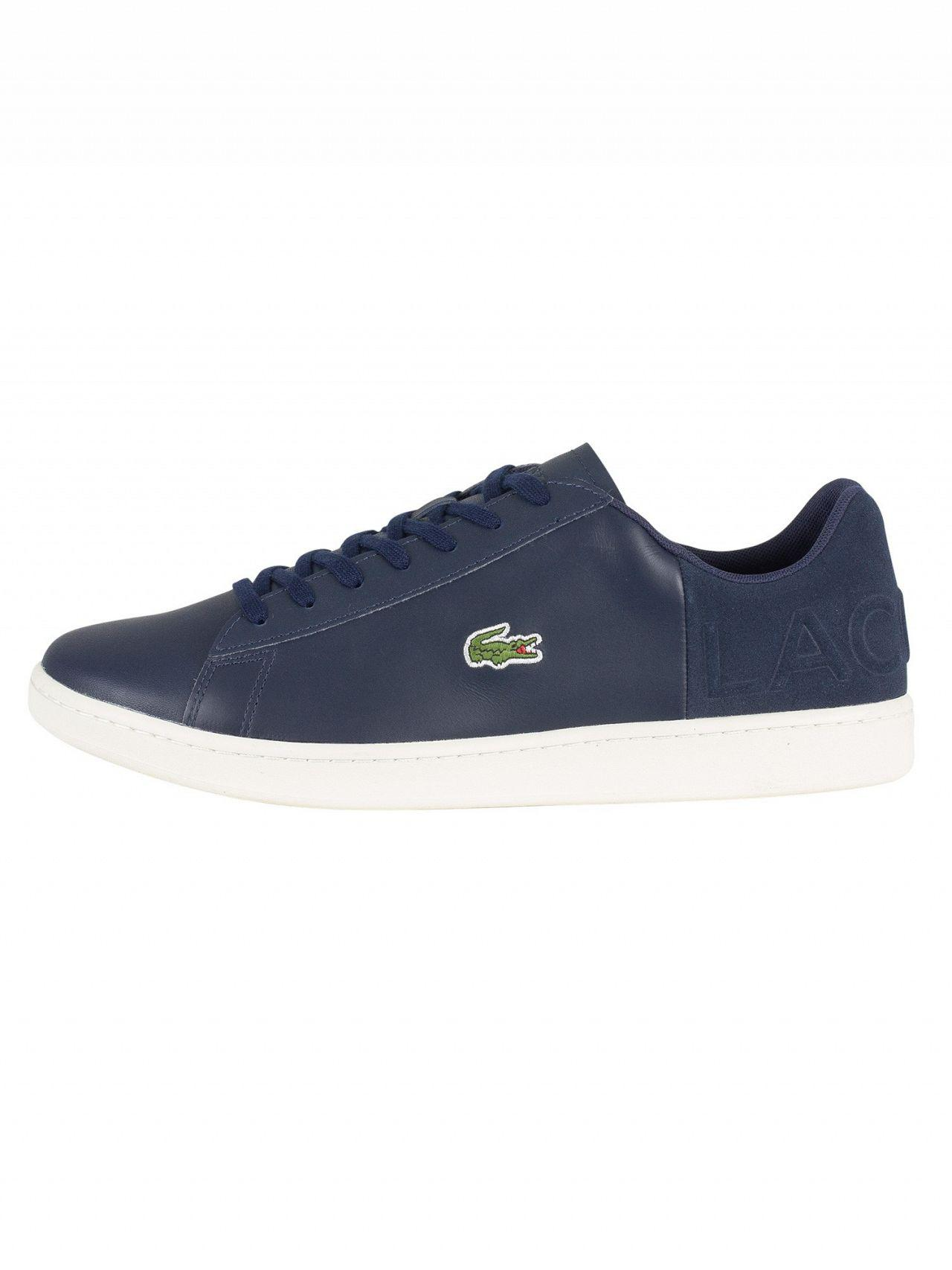 31e06430a40f71 Lacoste Navy off White Carnaby Evo 418 1 Spm Leather Trainers in Blue for  Men - Save 10% - Lyst