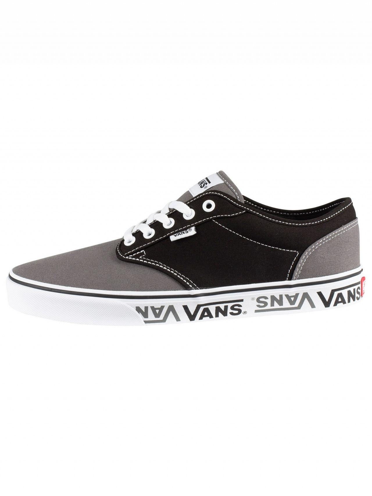 dd99e43e85 Lyst - Vans Black grey Atwood Sidewall Logo Trainers in Black for Men