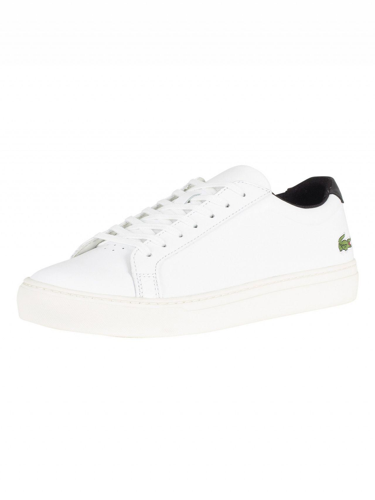853c56a88bbcde Lacoste White black L.12.12 317 4 Cam Leather Trainers in White for ...