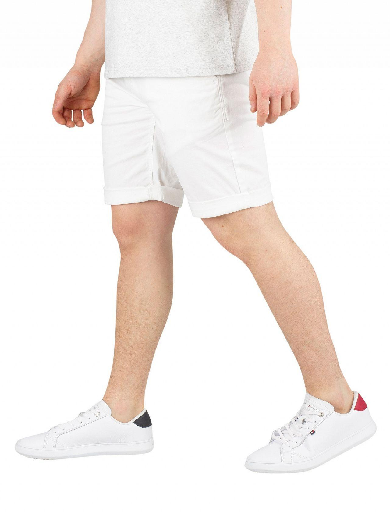 5b2aad83 Tommy Hilfiger Classic White Essential Chino Shorts in White for Men ...