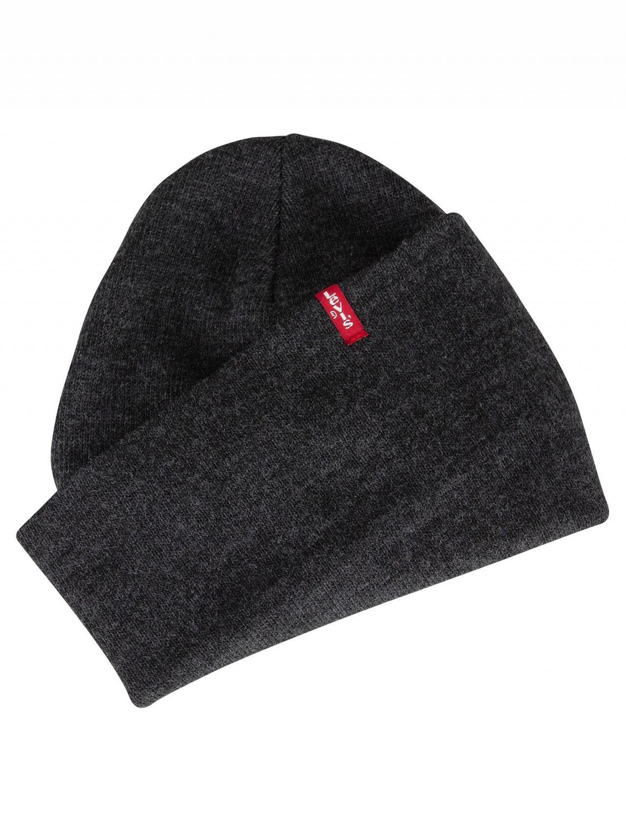 ace0ceab5bc Levi s - Gray Dark Grey Slouchy Red Tab Beanie for Men - Lyst. View  fullscreen