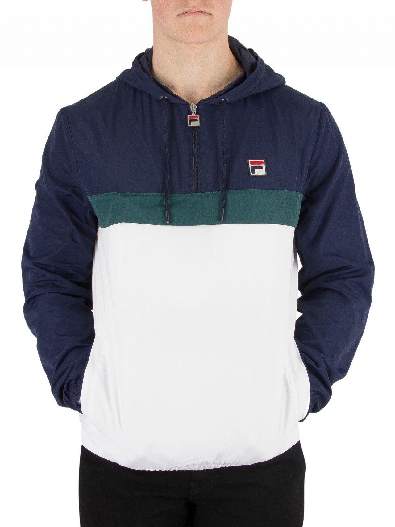 326c9122570b Fila Vintage White, Peacoat, J Bug Cipolla 1/2 Zip Pullover Jacket ...