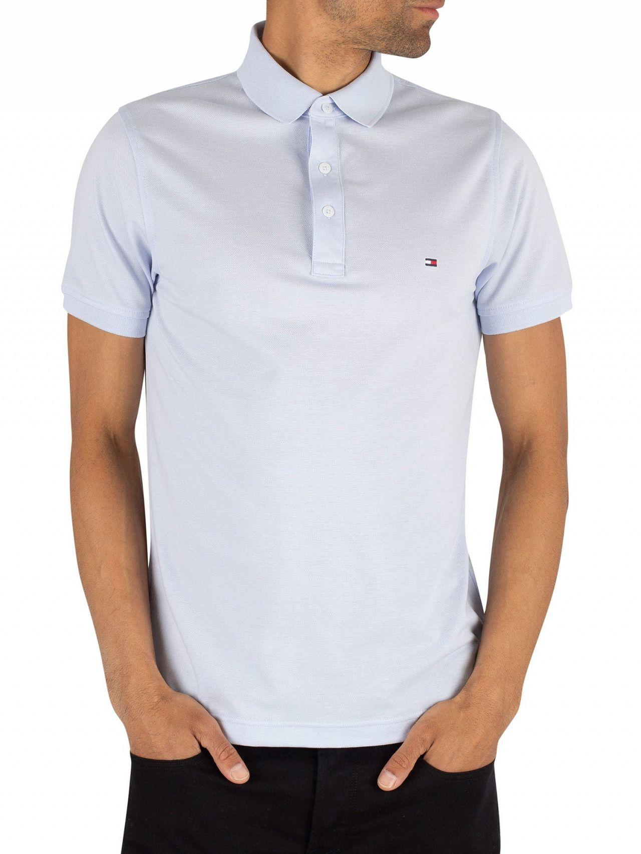 77d5563226aa Tommy Hilfiger Heather Slim Fit Poloshirt in Blue for Men - Lyst