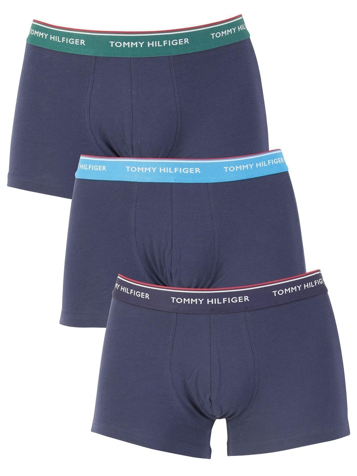 Tommy Hilfiger - Blue Navy 3 Pack Premium Essentials Trunks for Men - Lyst.  View Fullscreen