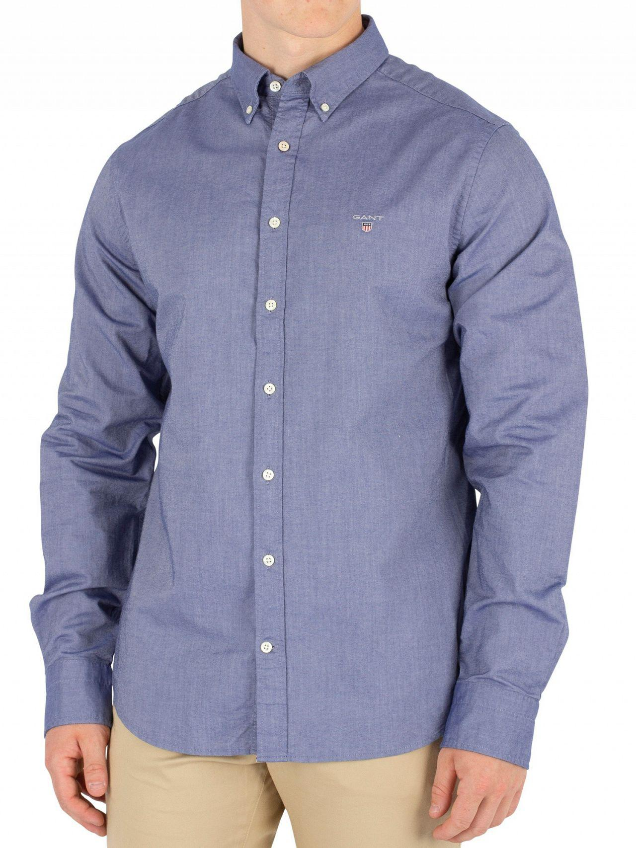 e04a6bd68e5 GANT Persian Blue The Slim Oxford Shirt in Blue for Men - Save 14% - Lyst