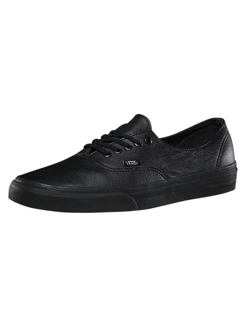 Lyst - Vans Black black Authentic Decon Premium Leather Trainers in ... ef0fb002f