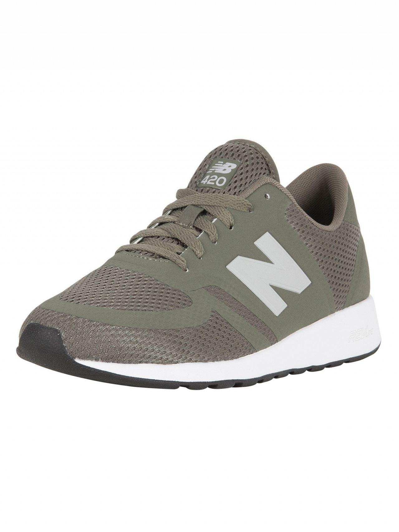 New Balance Olive 420 Trainers in Green for Men Lyst