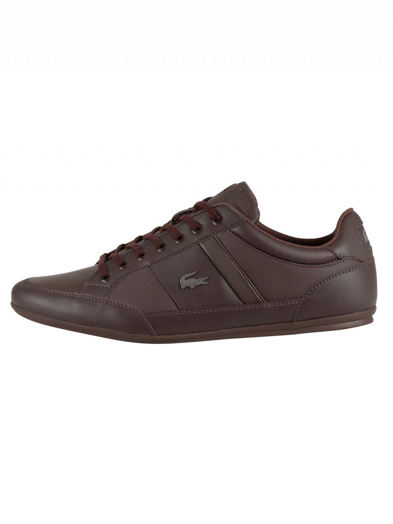 ac9ce69c9 Lyst - Lacoste Dark Brown Chaymon Bl 1 Cma Leather Trainers in Brown for Men