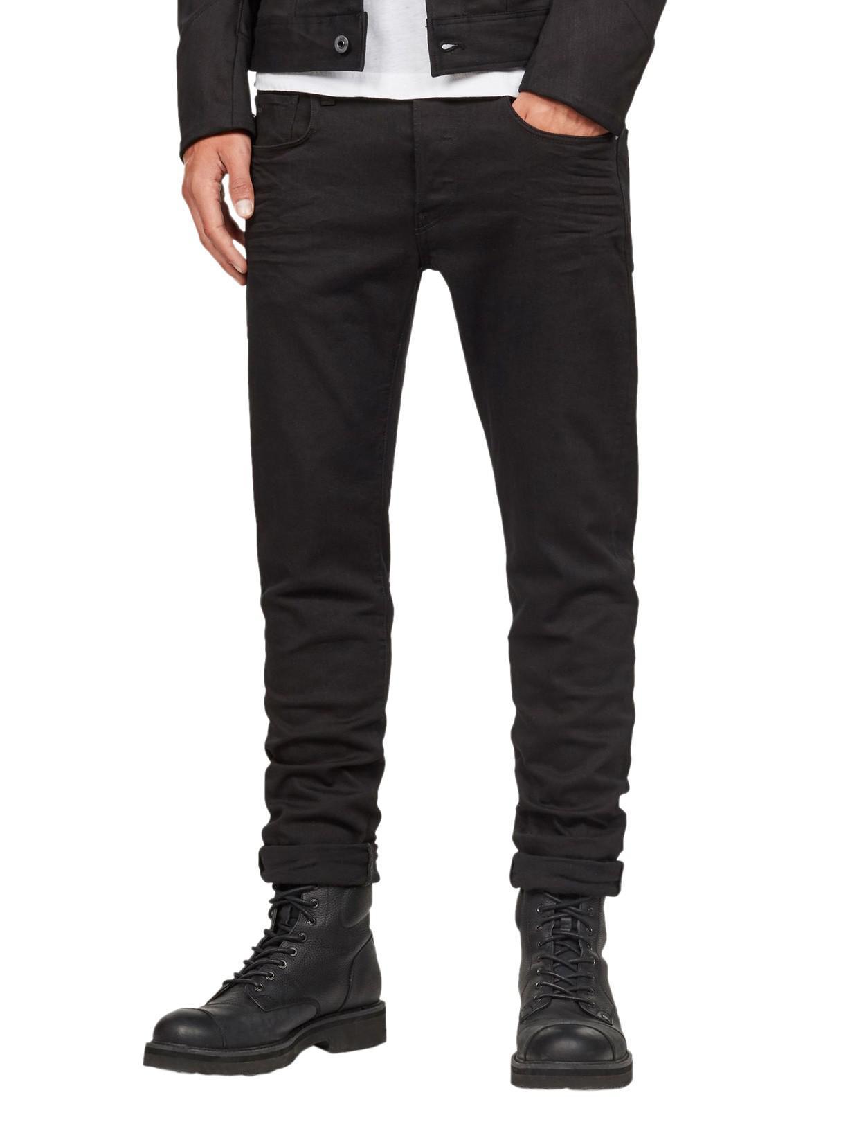 773e76a40ba6 G-Star RAW Black 3301 Slim Jeans in Black for Men - Lyst