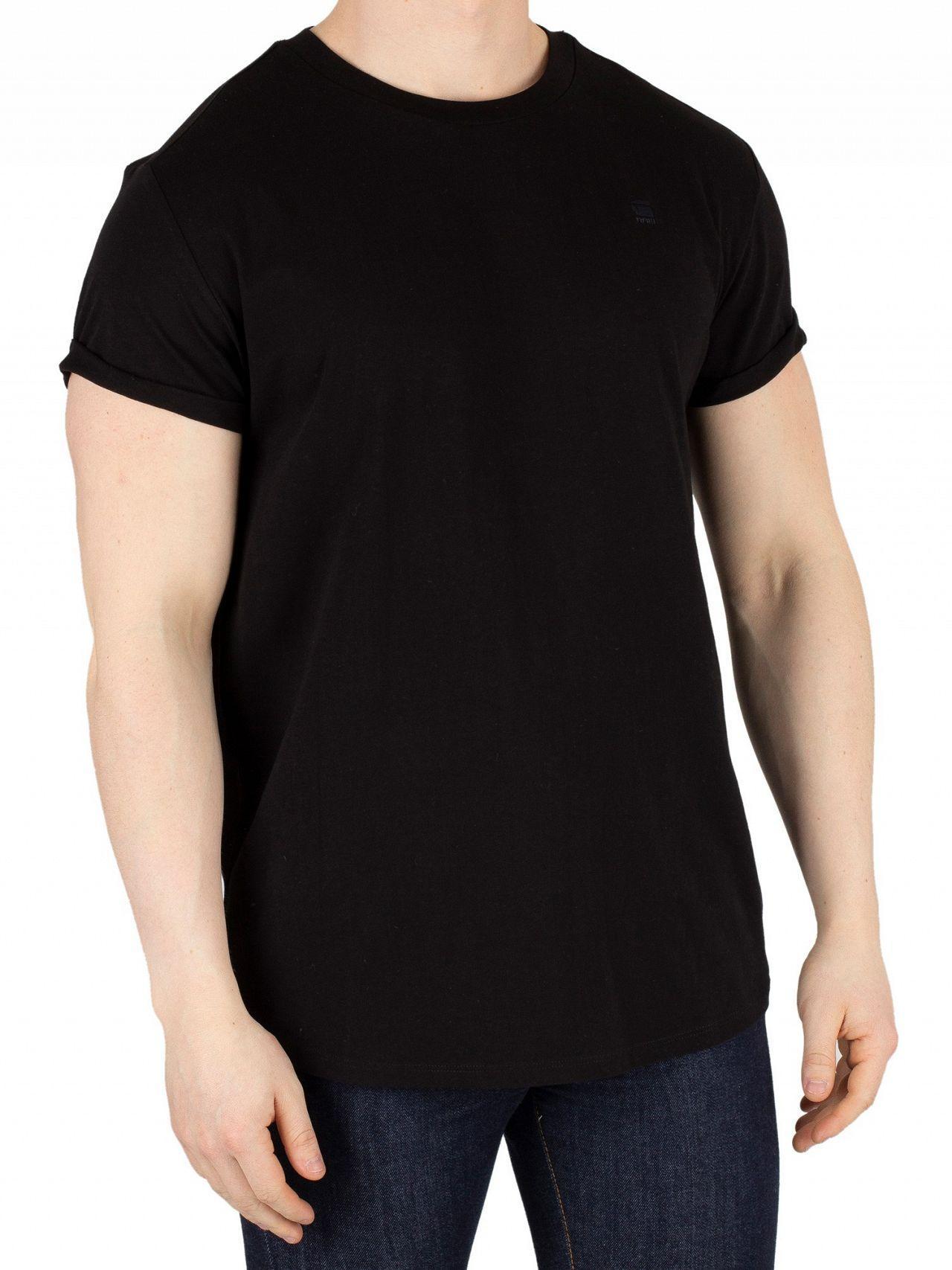 d3987fb95c1 Lyst - G-Star RAW Dark Black Shelo Relaxed Fit T-shirt in Black for Men