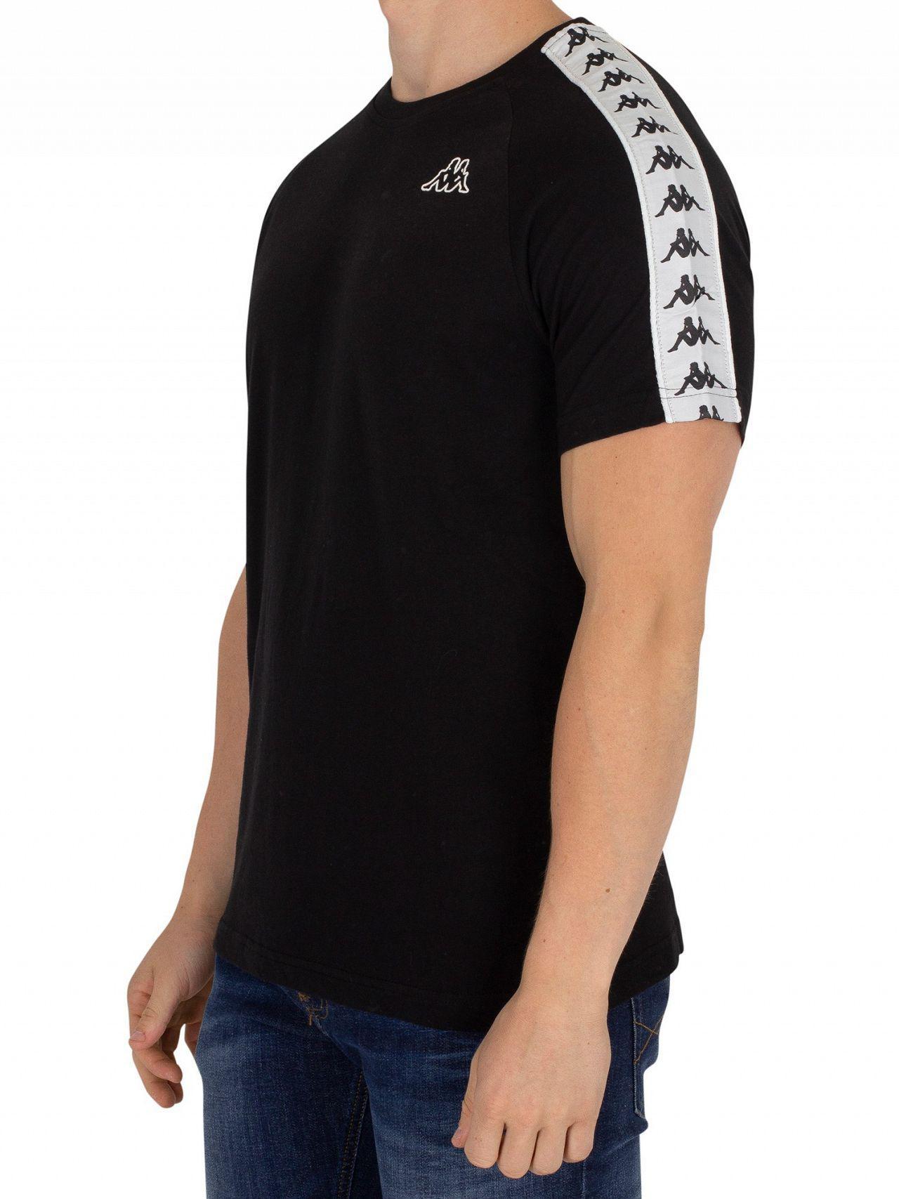 bef5462217 Lyst - Kappa Black/white Coen Slim T-shirt in Black for Men