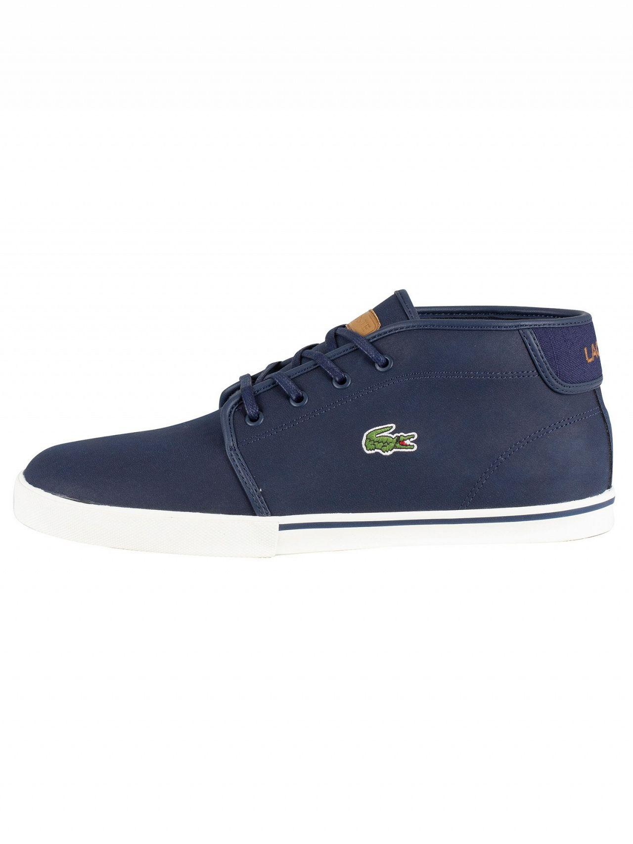 53ce6bb7172e Lyst - Lacoste Navy light Brown Ampthill 119 1 Leather Trainers in Blue for  Men
