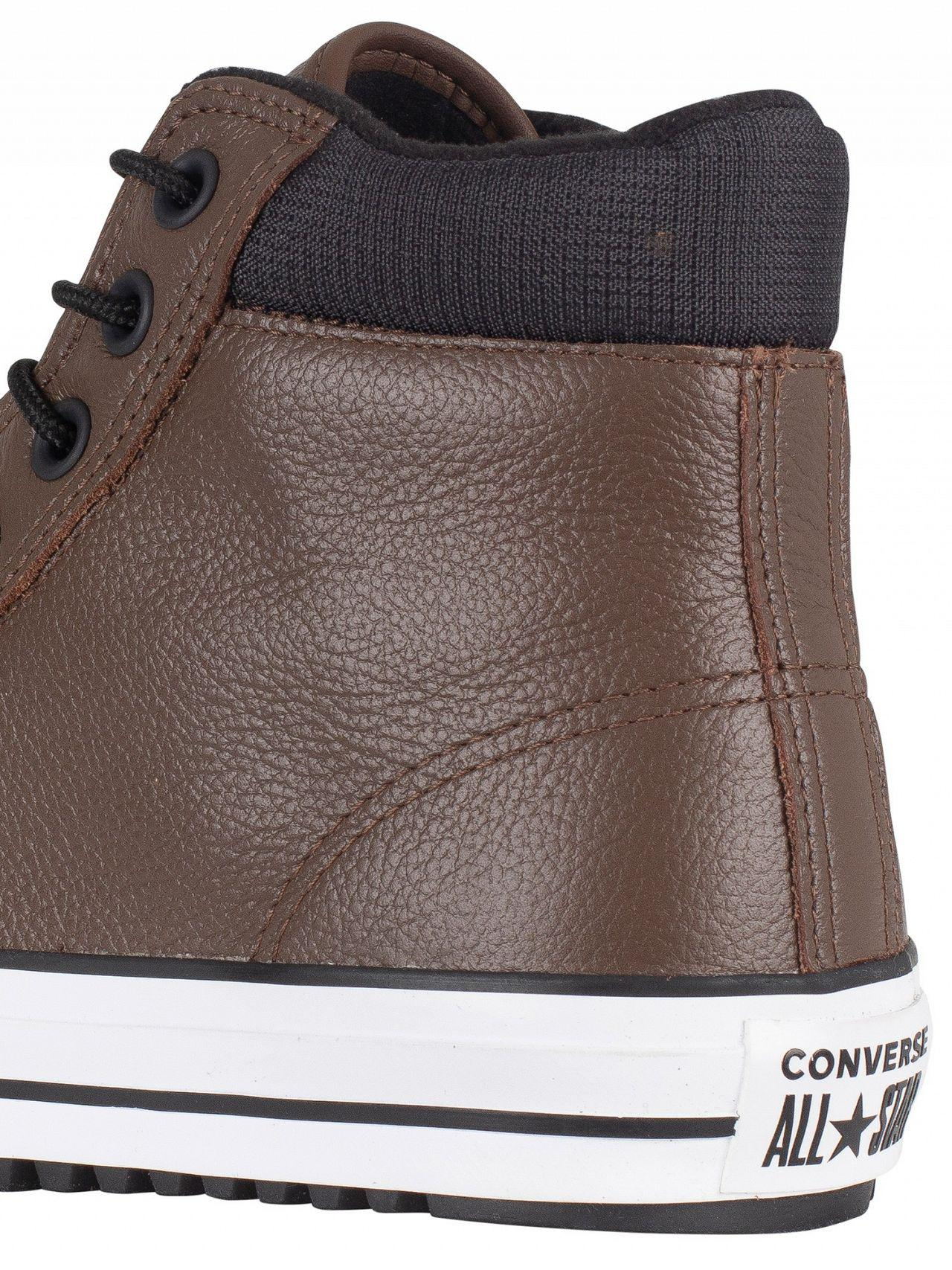 2ecd29a7888 Converse Chocolate black white Ct All Star Hi Pc Leather Boots in ...