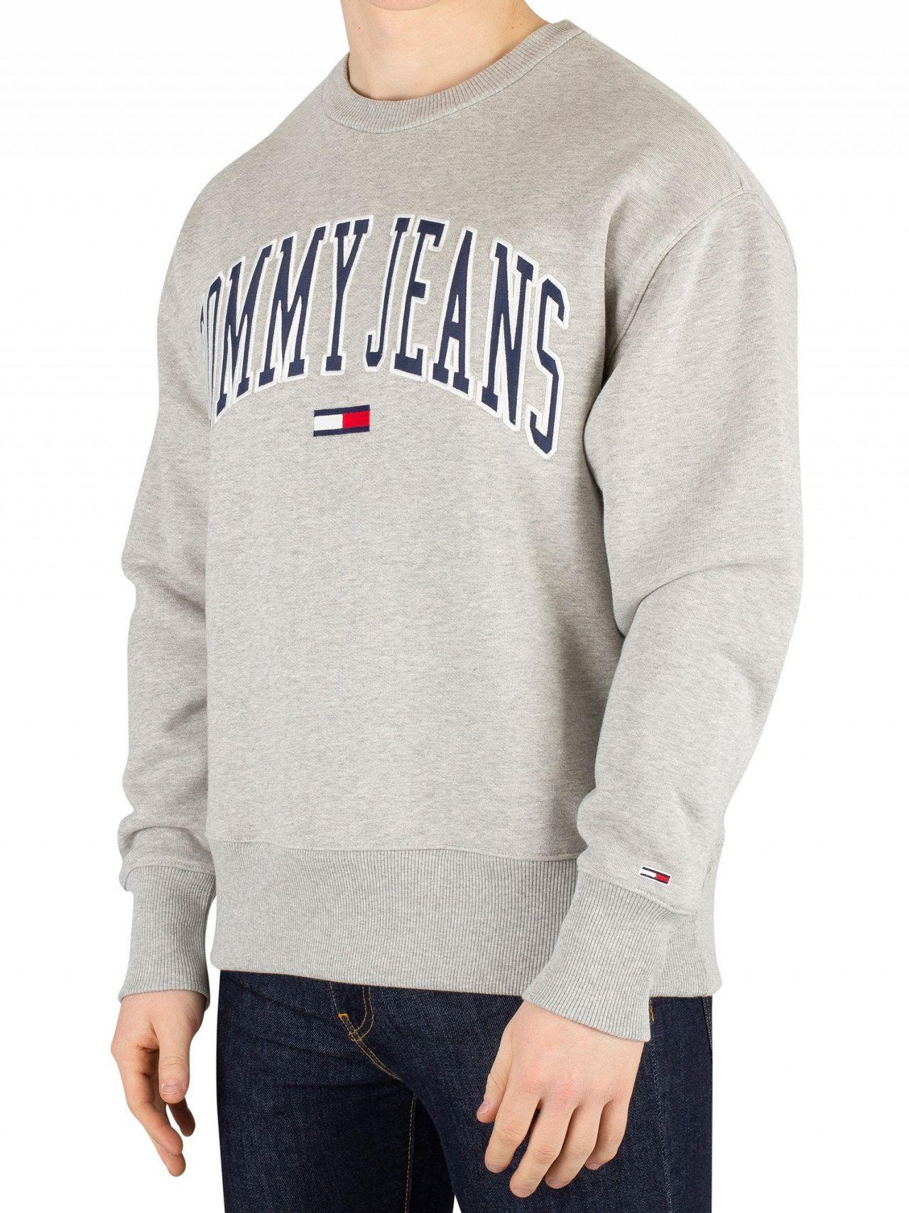 311fc265 Tommy Hilfiger. Men's Gray Light Grey Heather Clean Collegiate Sweatshirt
