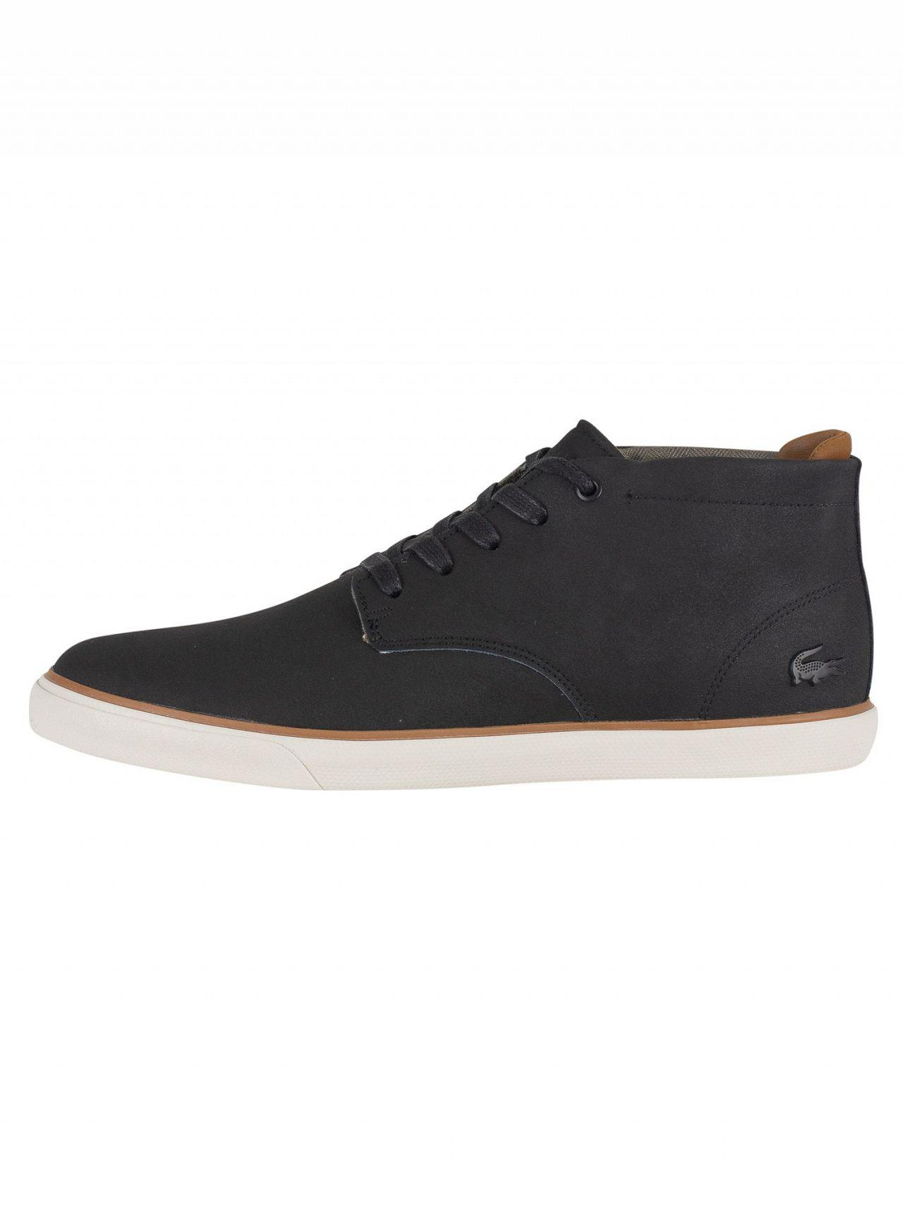 217ce33b8 Lyst - Lacoste Black brown Esparre Chukka 318 1 Cam Leather Trainers ...
