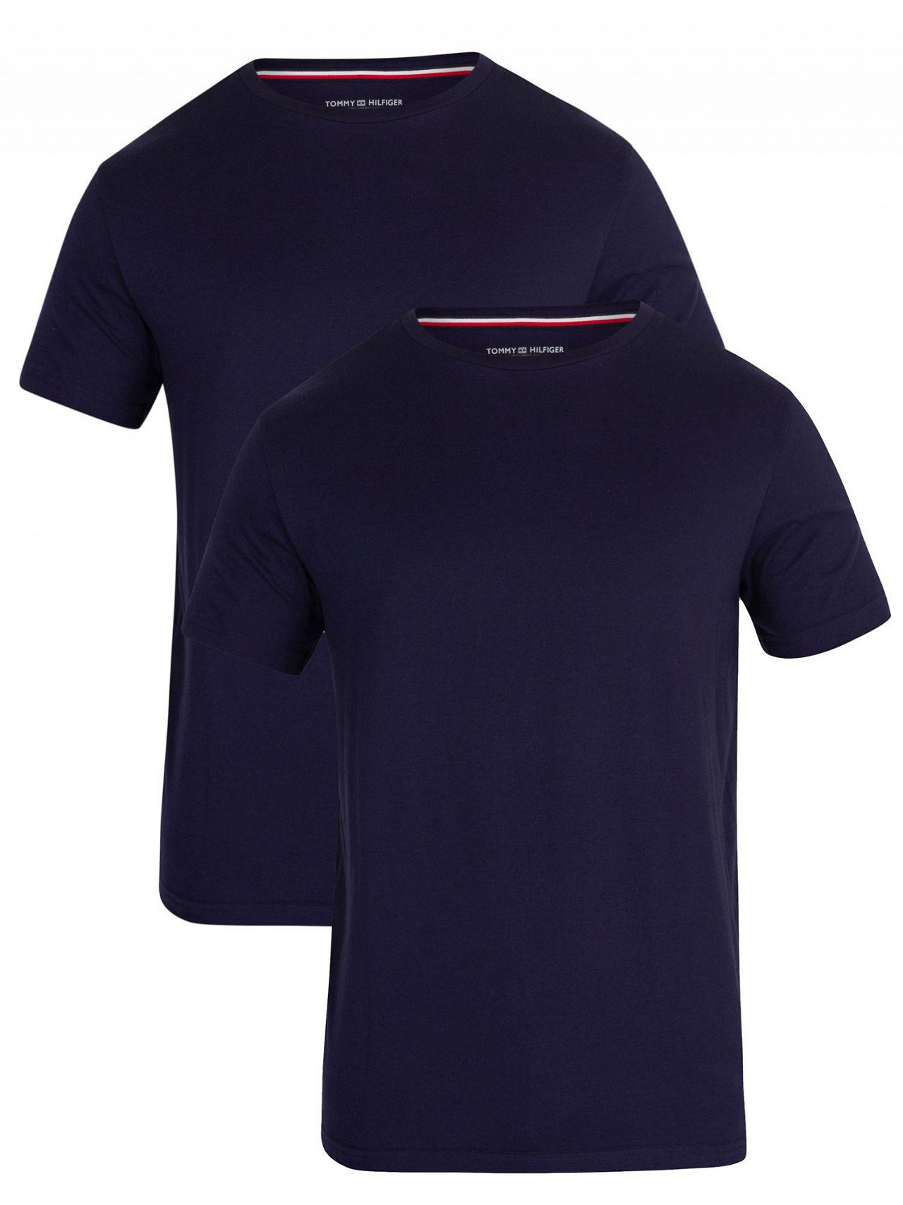 abb60902 Tommy Hilfiger Peacoat 2 Pack V-neck T-shirts in Blue for Men - Lyst