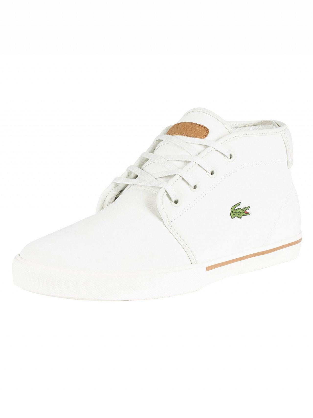 791329df5d246 Lyst - Lacoste Off White light Brown Ampthill 119 1 Leather Trainers ...
