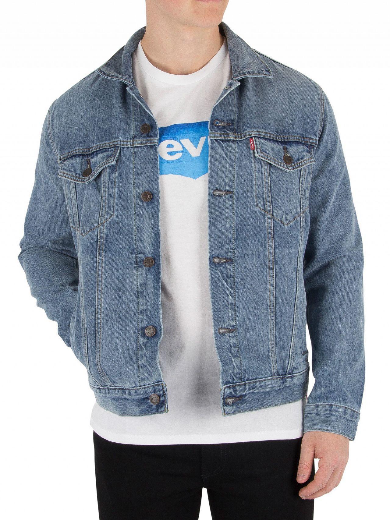 149f4c3d58dee Levi s Icy Trucker Jacket in Blue for Men - Lyst