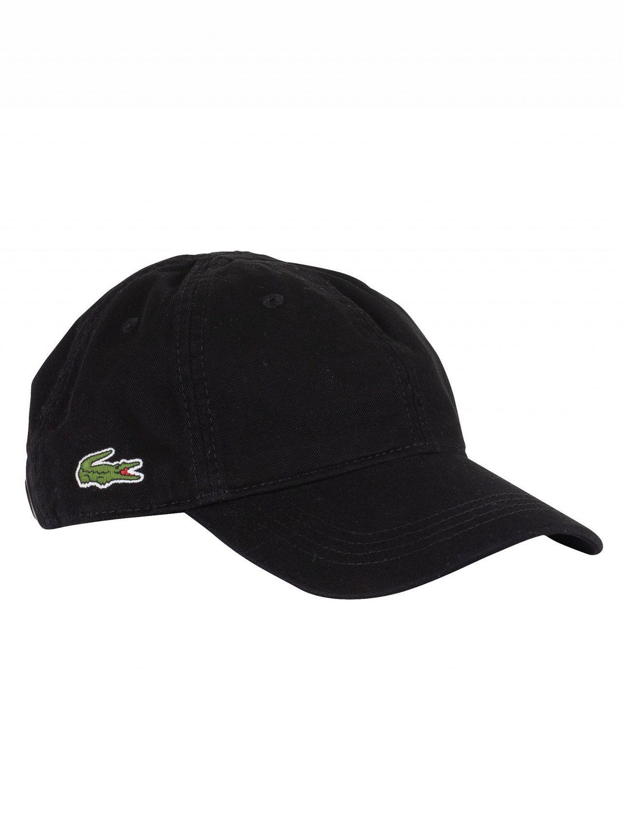 Lyst - Lacoste Black Small Logo Baseball Cap in Black for Men 1ee283994cb