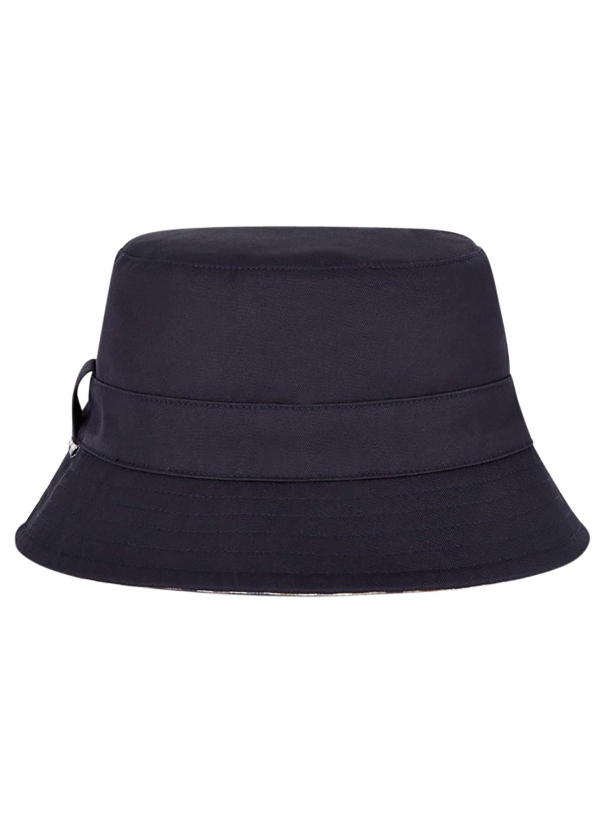 c59e909b7145 Lyst - Aquascutum Navy Reversible Bucket Hat in Blue for Men - Save 26%