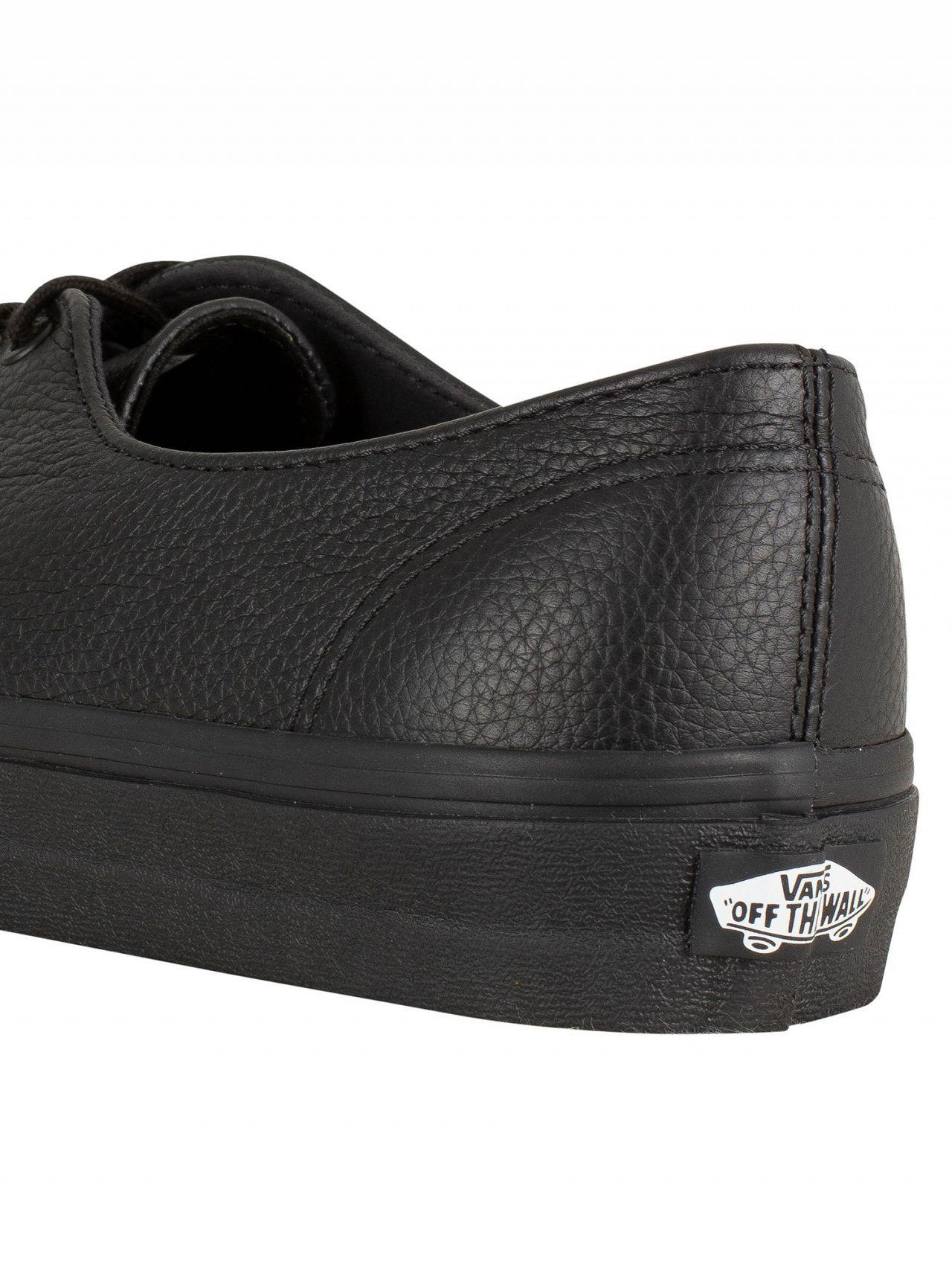 8d626435793d90 Lyst - Vans Black black Authentic Decon Premium Leather Trainers in ...