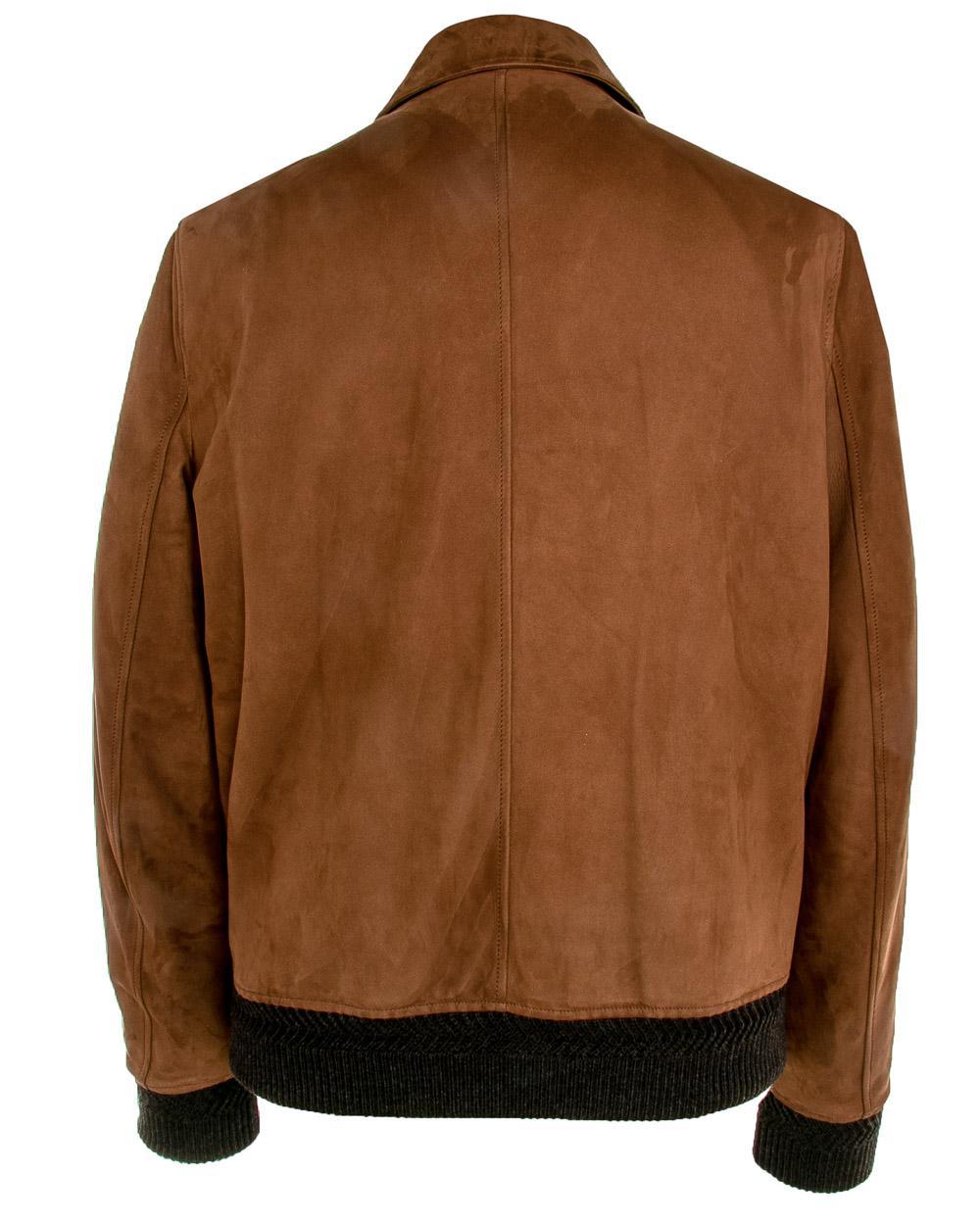 0e4ff7952ce Lyst - Ermenegildo Zegna Cognac Vicuna Suede Bomber Jacket in Brown for Men