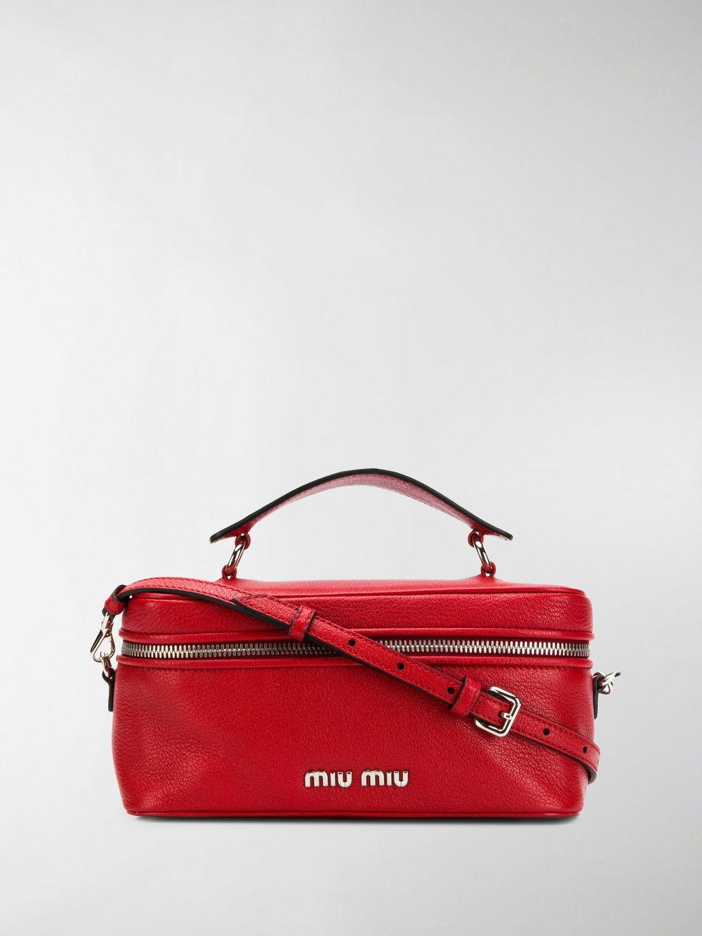 fd8671b19603 Miu Miu Top Handle Shoulder Bag in Red - Lyst