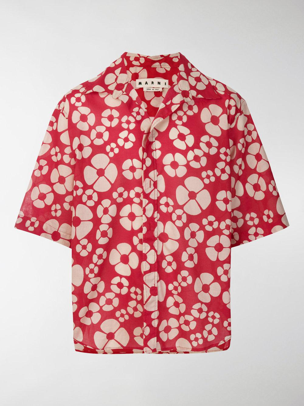 Woodstock print shirt - Red Marni Low Shipping Fee For Sale Explore Online Buy Cheap Best Store To Get Outlet Collections Low Price Fee Shipping EzV5SpjZNK