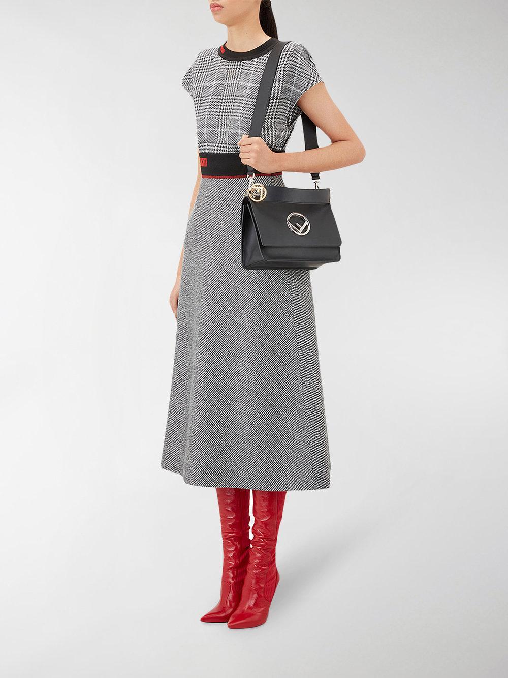 Fendi - Black Kani Shoulder Bag - Lyst. View fullscreen 9e53236c1bce4