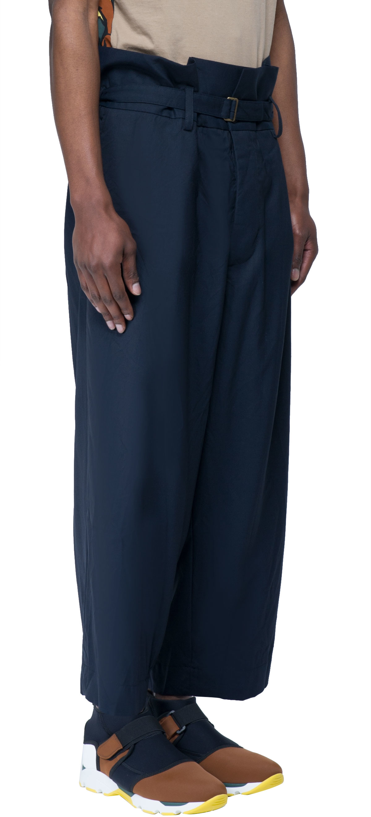 Marni Trousers With Belt In Blue For Men Lyst