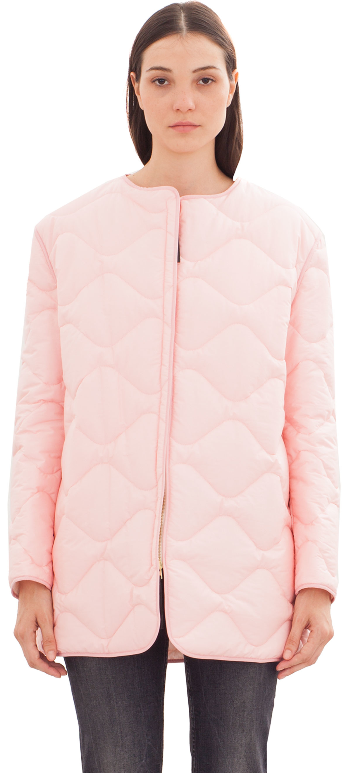 Marni Quilted Down Jacket in Pink