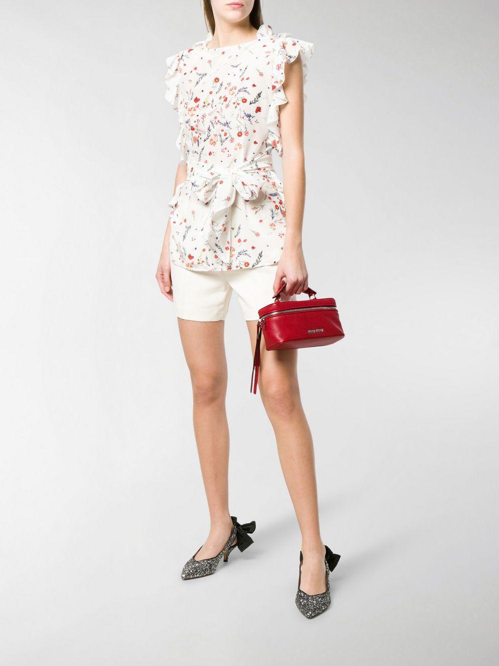 75a06aa4c95b Miu Miu - Red Top Handle Shoulder Bag - Lyst. View fullscreen