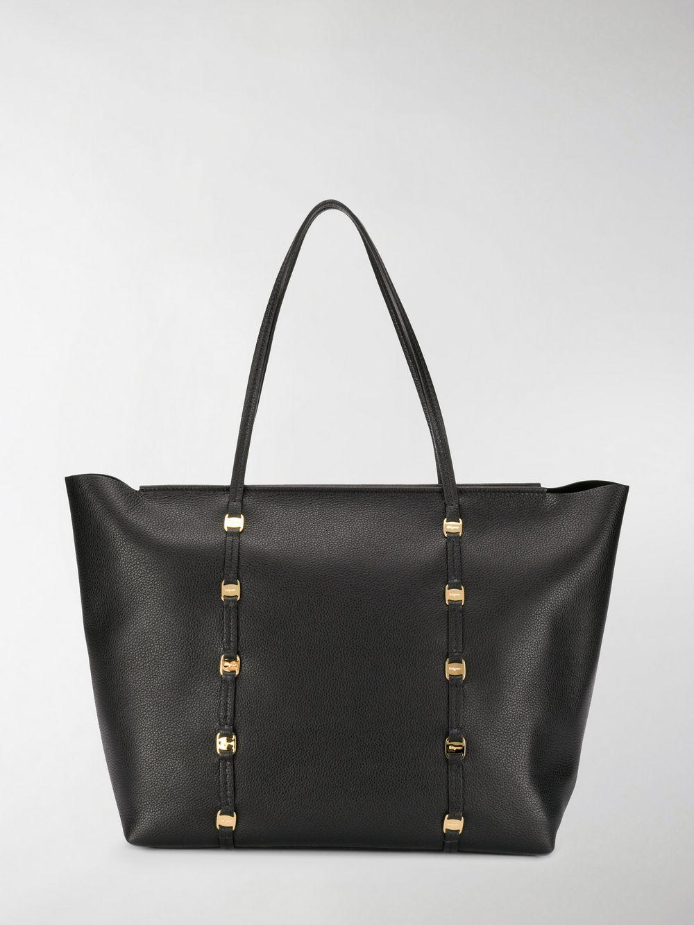 a122e7a59776 Lyst - Ferragamo Emotion Tote Bag in Black