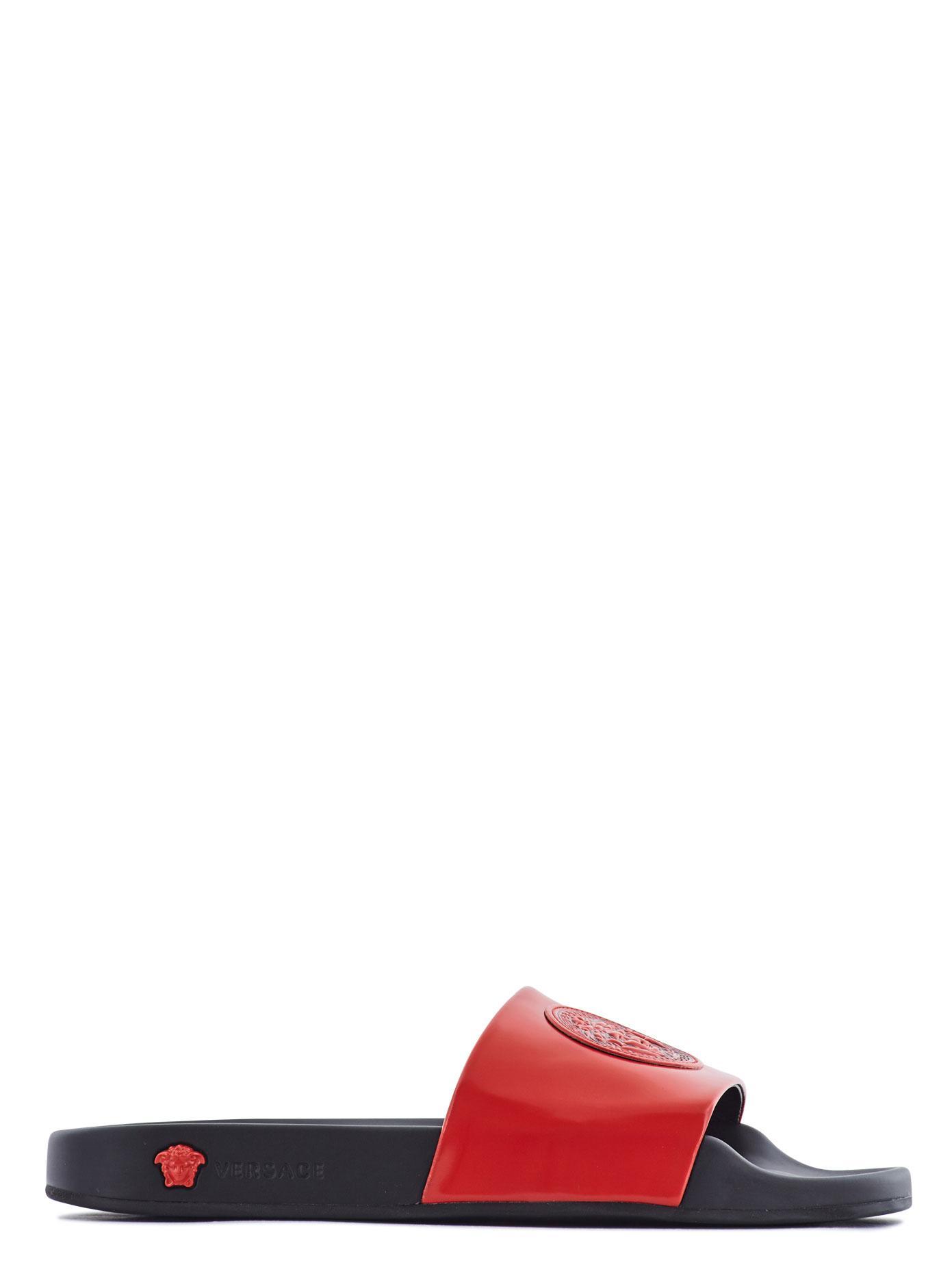 9320d806c5cf0 Lyst - Versace Medusa Logo Pool Slides in Red