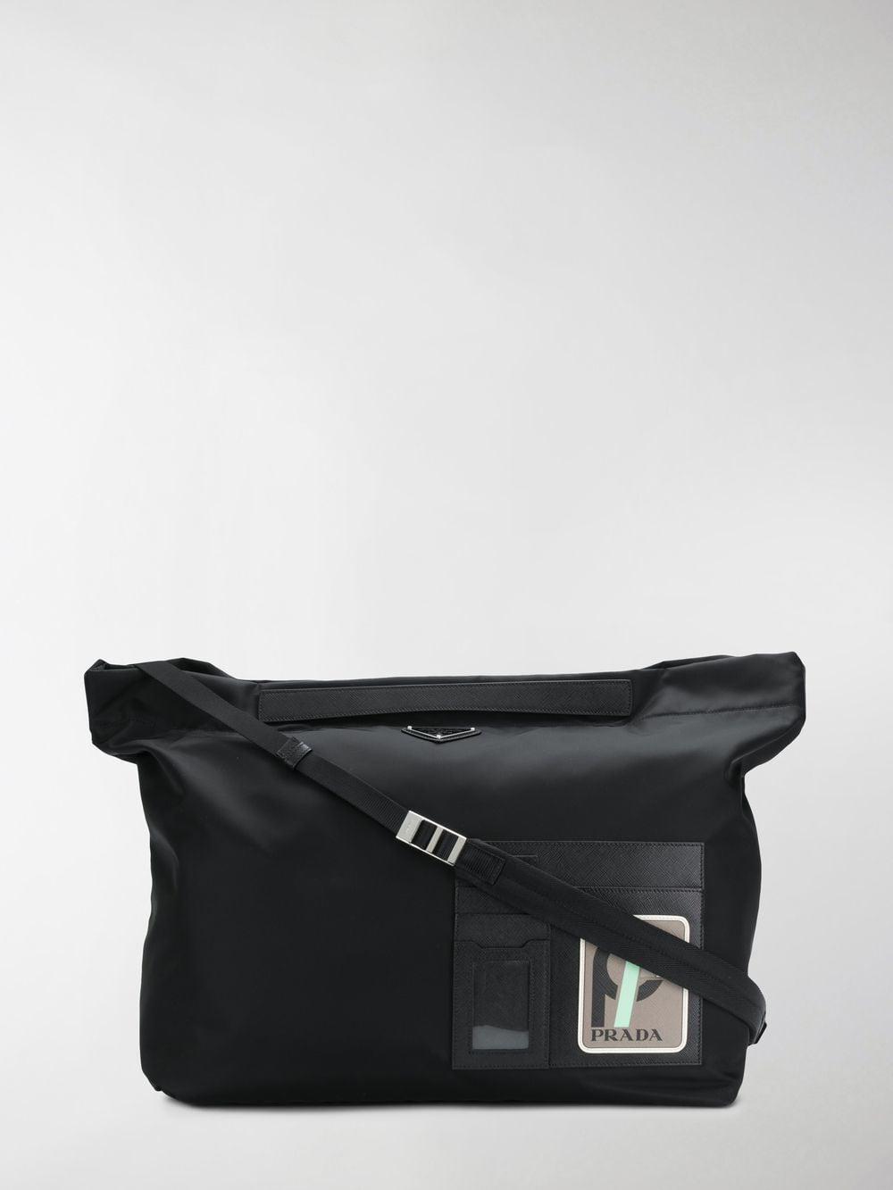4a54f1e940c03a Prada - Black And Grey Technical Shoulder Bag for Men - Lyst. View  fullscreen