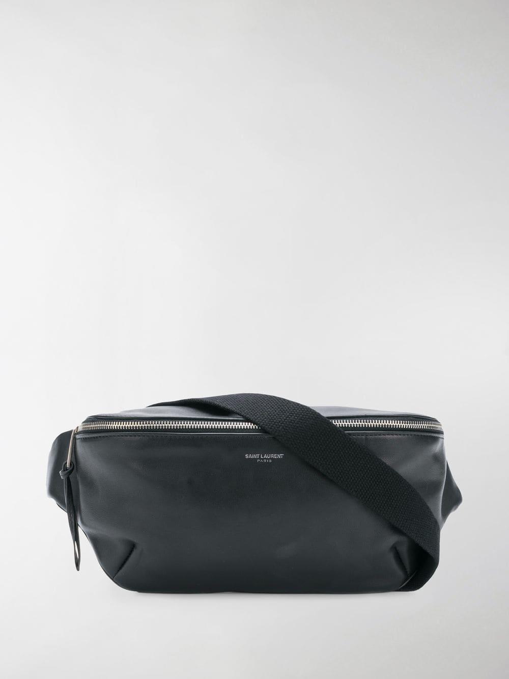 01a7ea8307b19 Saint Laurent Black Logo Leather Crossbody Bag in Black for Men ...