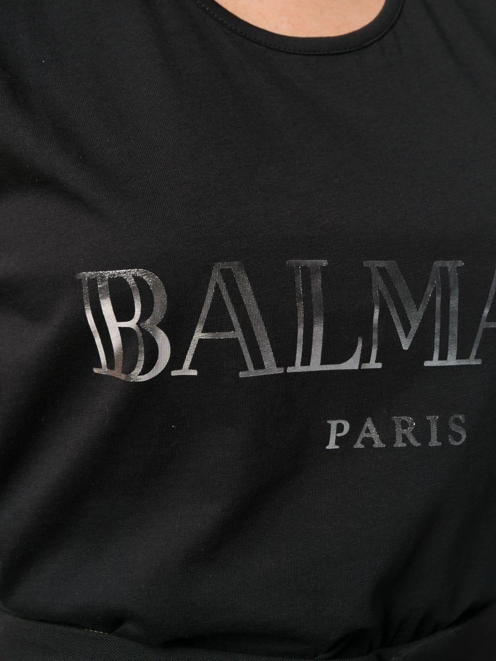 d50933b8efa0bb Balmain Logo Print Tank Top in Black - Lyst