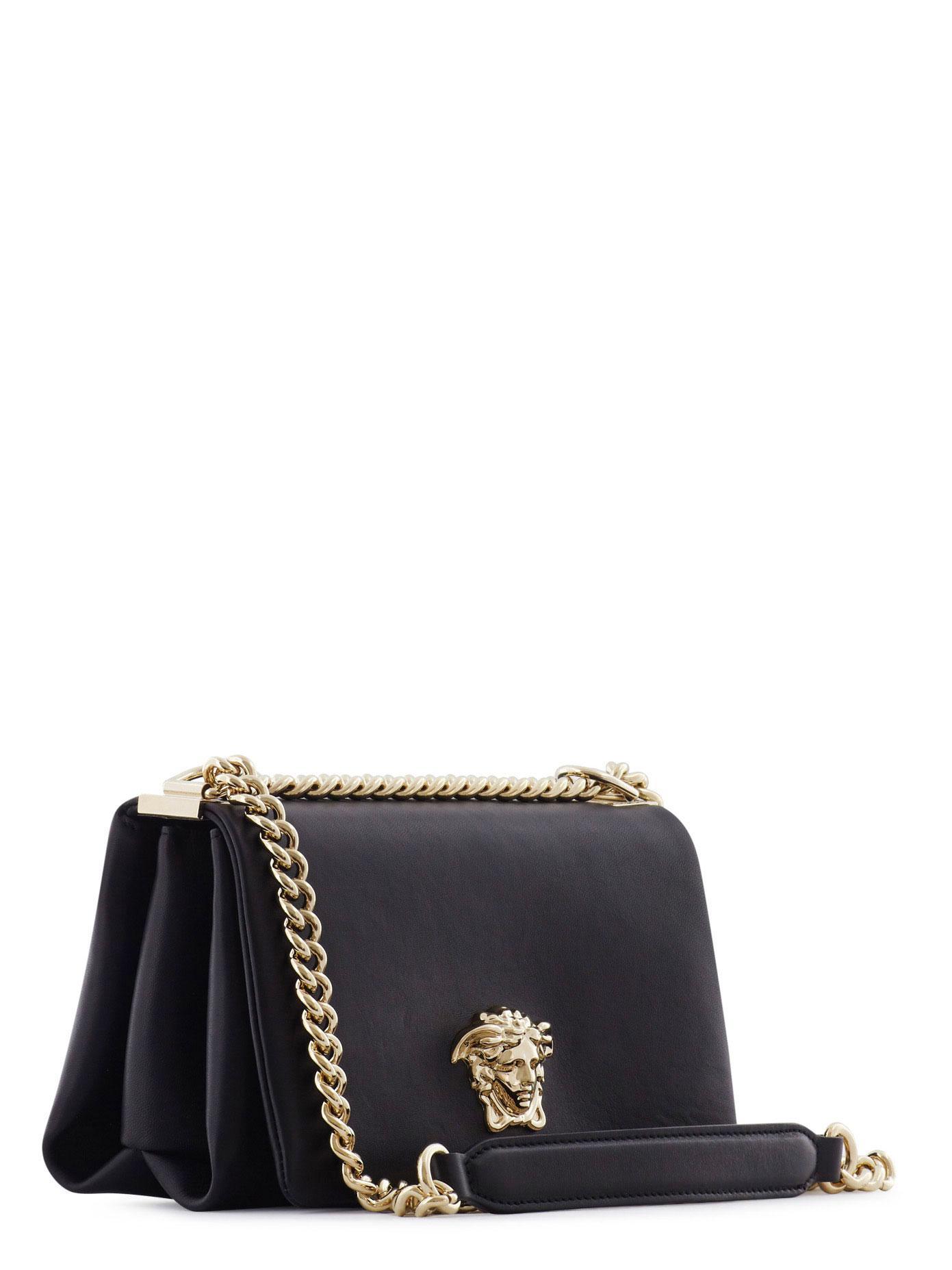 12e2206b57f2 Lyst - Versace Palazzo Sultan Leather Shoulder Bag in Black