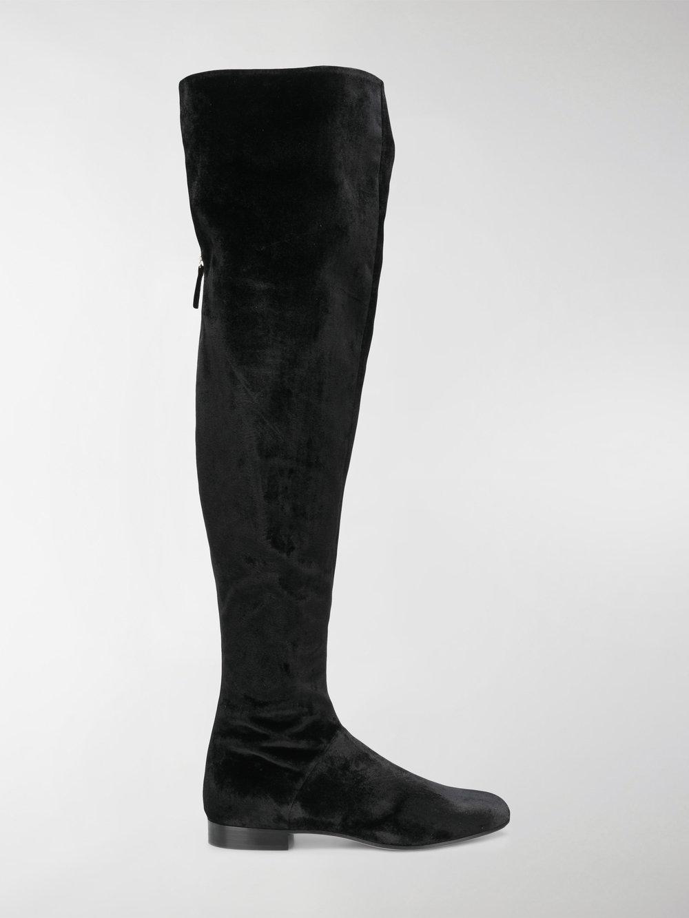 Ferretti Knee Black Velvet The In Boots Alberta Over Lyst wOagHBnq