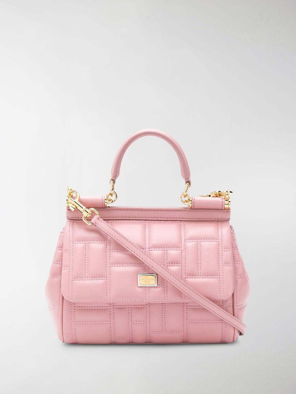 Dolce   Gabbana Sicily Tote Bag in Pink - Lyst e90fdff3e7560